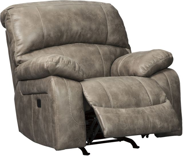 Signature Design by Ashley® Dunwell Driftwood Power Recliner with Adjustable Headrest-5160213