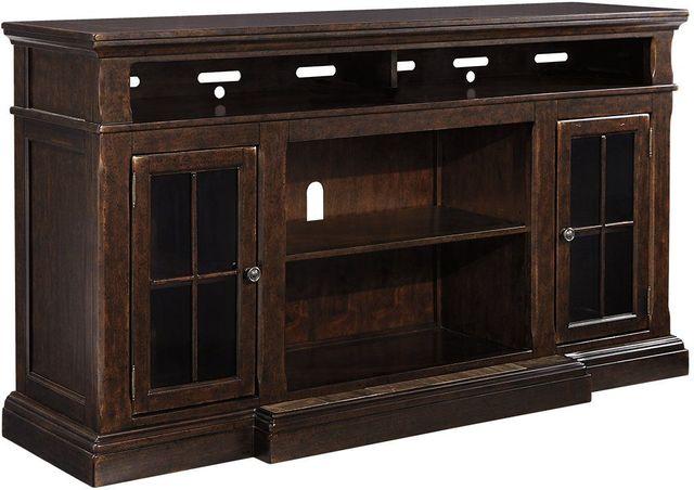 Signature Design by Ashley® Roddinton Dark Brown X-Large TV Stand w/Fireplace Option-W701-88
