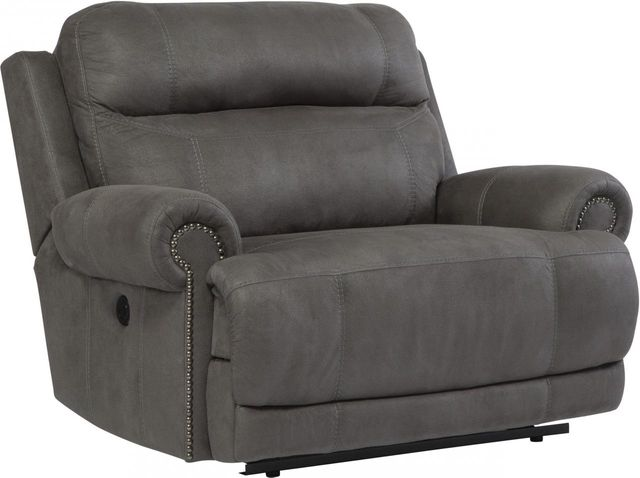 Signature Design by Ashley® Austere Gray Zero Wall Power Wide Recliner-3840182