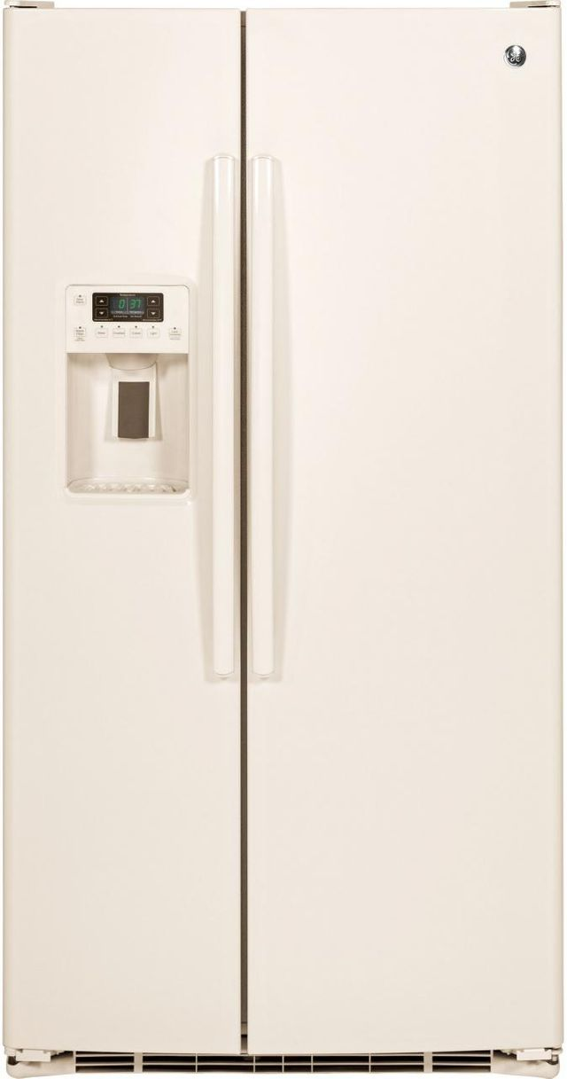 GE® 25.4 Cu. Ft. Side-By-Side Refrigerator-Bisque-GSE25GGHCC