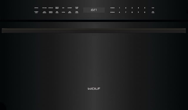 """Wolf® M Series Contemporary 30"""" Black Built In Microwave Oven-MDD30CM/B/TH"""