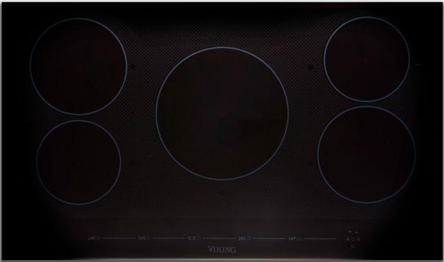 "Viking® Professional Virtuoso 6 Series 36"" Black Glass All-Induction Cooktop-MVIC6365BBG"