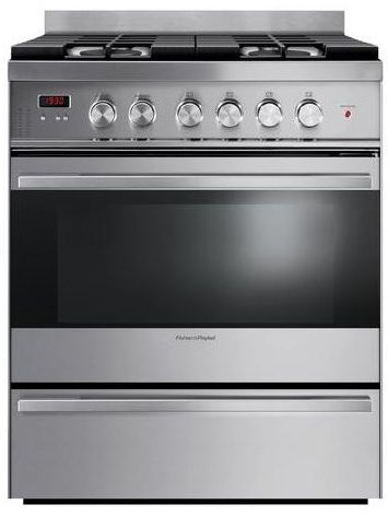 """Fisher & Paykel 30"""" Free Standing Gas Range-Stainless Steel-OR30SDBMX1"""