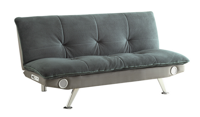 Coaster® Grey Odel Upholstered Sofa Bed With Bluetooth Speakers-500046