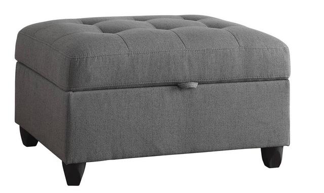 Coaster® Stonenesse Grey Storage Ottoman-500414