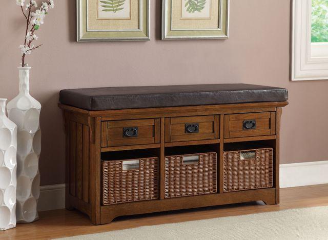 Coaster® Brown Storage Bench-501061
