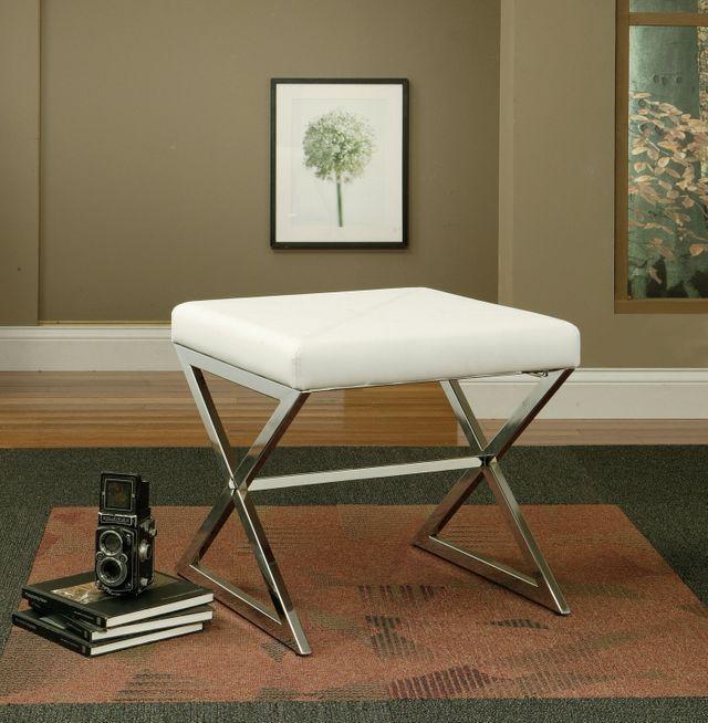 Coaster® Faux Leather Ottoman-501063