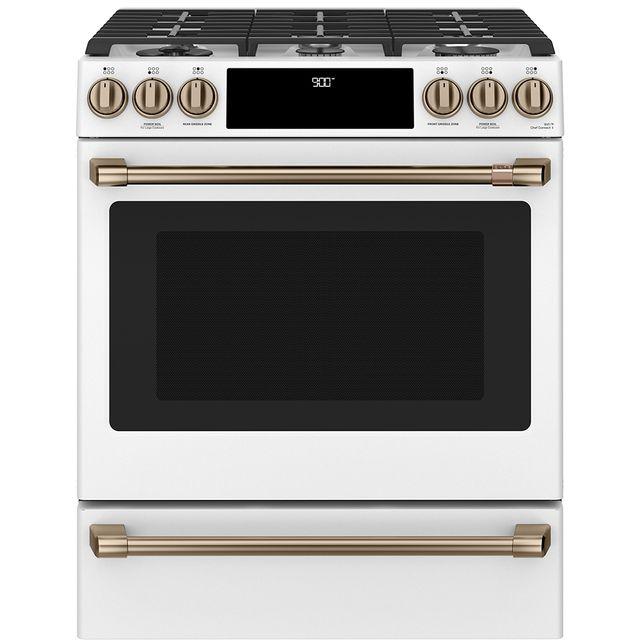 Cuisinière biénergie encastrée Cafe™ de 5,7 pi³ de 30 po - Blanc mat-CC2S900P4MW2