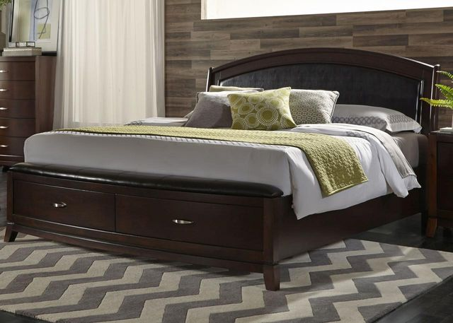 Liberty Avalon Bedroom King Storage Bed, Dresser and Mirror Collection-505-BR-KSBDM