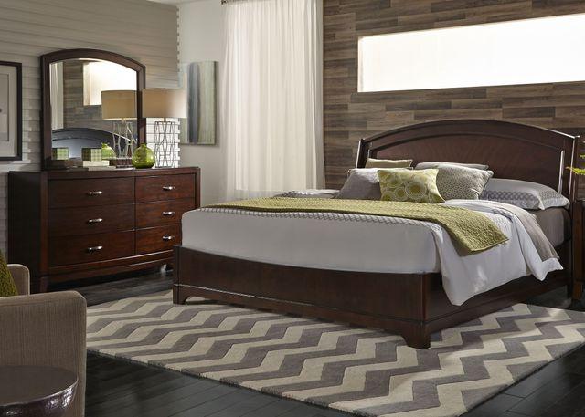 Liberty Furniture Avalon 3 Piece Dark Truffle Queen Panel Bedroom Set-505-BR-QPLDM