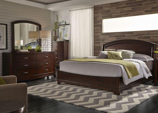 Liberty Furniture Avalon 4 Piece Dark Truffle Queen Panel Bedroom Set-505-BR-QPLDMC