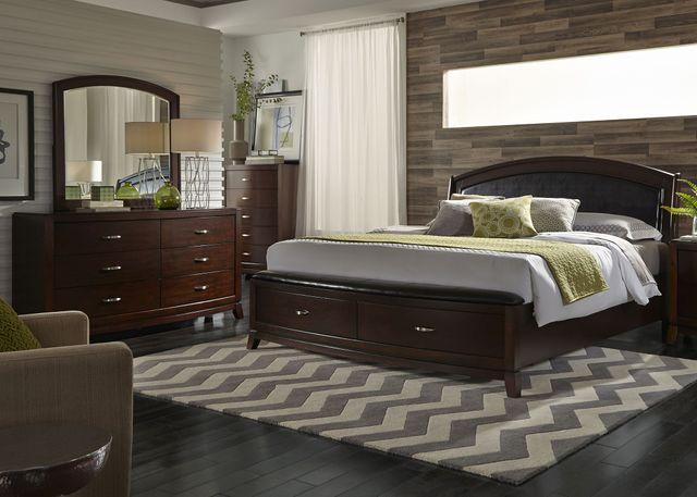 Liberty Furniture Avalon 3 Piece Dark Truffle Queen Storage Bedroom Set-505-BR-QSBDM