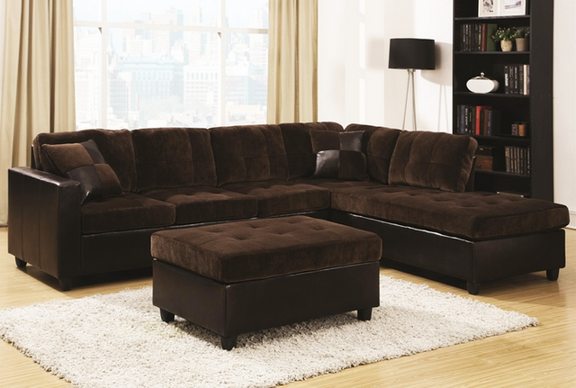 Coaster® Mallory Chocolate Brown 4 Piece Upholstered Sectional-505645