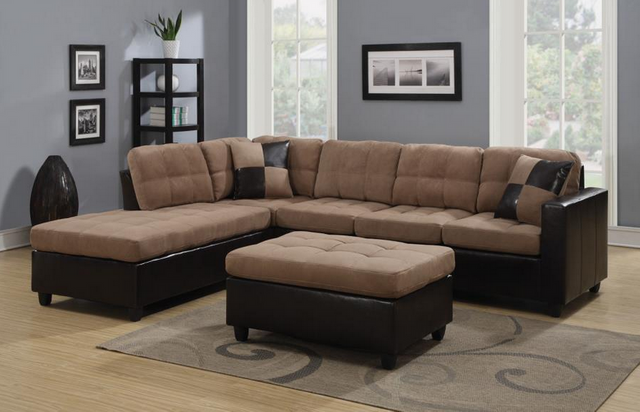 Coaster® Mallory Tan and Brown Upholstered Sectional-505675