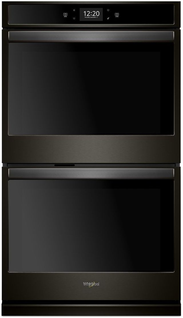"""Whirlpool® 27"""" Electric Double Oven Built In-Print Resist Black Stainless-WOD77EC7HV"""