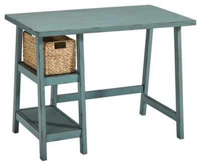"""Signature Design by Ashley® Mirimyn Teal 42"""" Home Office Desk-H505-710"""