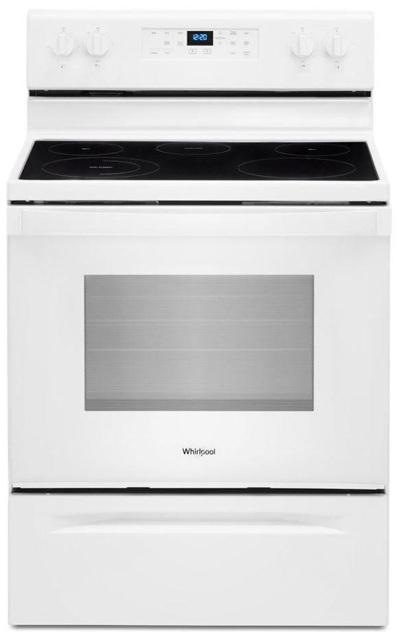 "Whirlpool® 30"" White Free Standing Electric Range-WFE525S0JW"