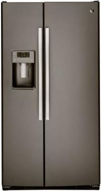 GE® 23.2 Cu. Ft. Side-By-Side Refrigerator-Slate-GSS23GMKES