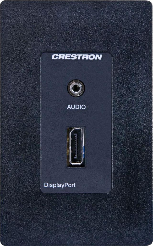 Crestron® Media Presentation Wall Plate-Black-MP-WP160-B