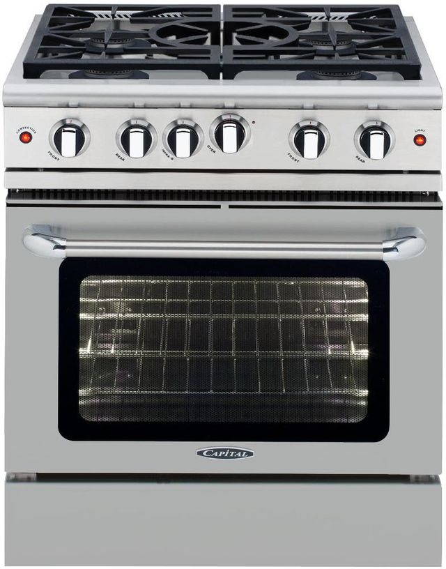 """Capital Precision Series™ 30"""" Stainless Steel Free Standing Gas Range-MCR305L"""