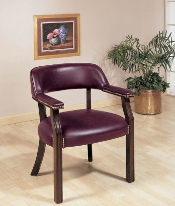 Coaster® Office Chairs Upholstered Vinyl Side Chair-511B