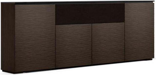 Salamander Designs® Chameleon Low Profile 345 Wengé Speaker Integrated Cabinet-C1/BL345/WE
