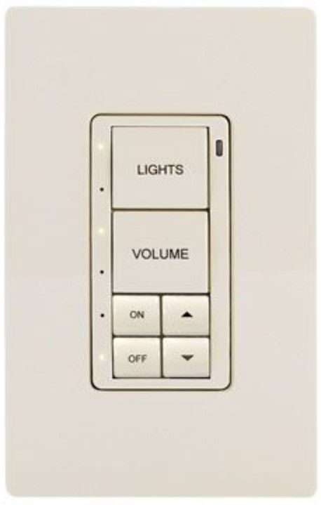 Crestron® Cameo® Almond Textured infiNet EX® 277V Wireless Keypad-INET-CBDEX-277-P-A-T