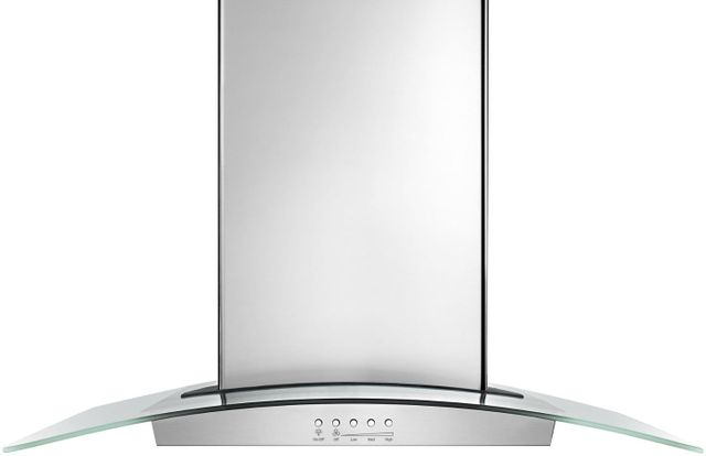 """Maytag® 36"""" Stainless Steel Modern Glass Wall Mount Range Hood-WVW75UC6DS"""