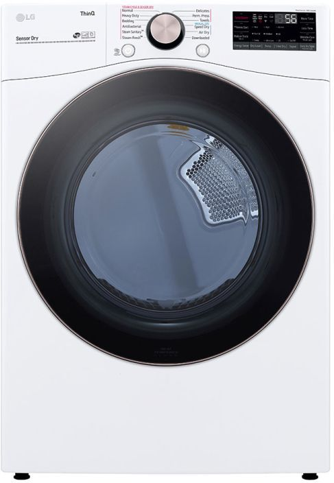 LG 7.4 Cu. Ft. White Front Load Electric Dryer-DLEX4000W-16-d954