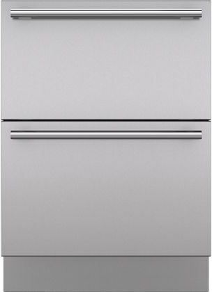 """Sub-Zero® 27"""" Integrated Stainless Steel Drawer Panels with Tubular Handles-7025411"""