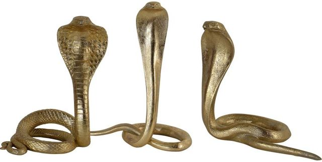 Statues Cobra Cobras, feuille d'or, Renwil®-STA752