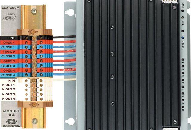 Crestron® 4 Channel Motor Control Module-CLX-1MC4