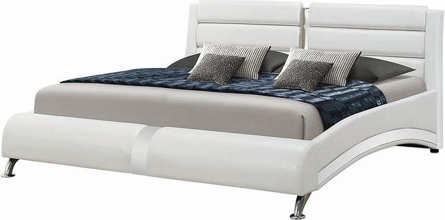Coaster® Jeremaine White Upholstered Eastern King Bed-300345KE