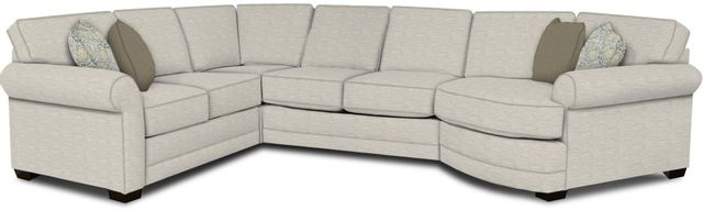 England Furniture Co. Brantley 4 Piece Culpepper Snow/Alvarado Mineral/Spin City Flannel Sectional-5630-28-22-43-95+8613+8137+8601