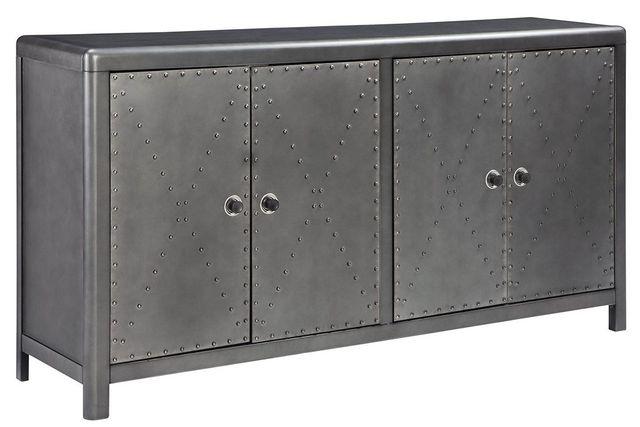 Signature Design by Ashley® Rock Ridge Gunmetal Accent Cabinet-A4000034