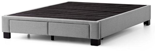 Malouf® Sleep Duncan Stone Queen Platform Bed Base-STDUNCUPLQQST