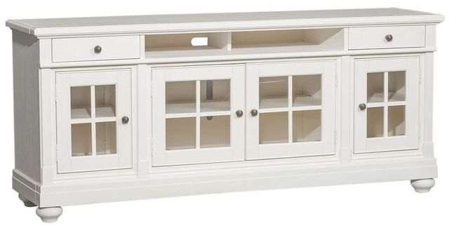 """Liberty Furniture Harbor View Distressed Linen 74"""" Entertainment TV Stand-631-TV74"""