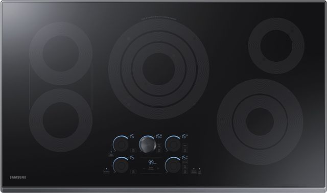 "Samsung 36"" Electric Cooktop-Fingerprint Resistant Matte Black Stainless Steel-NZ36K7570RG"