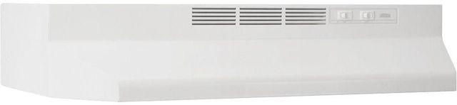 "Broan® 41000 Series 24"" White Ductless Under Cabinet Range Hood-412401"