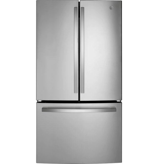 GE® 27.0 Cu. Ft. Fingerprint Resistant Stainless Steel French Door Refrigerator-GNE27JYMFS