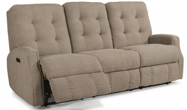 Flexsteel® DevonLeather Reclining Sofa withoutNailheadTrim-3882-62H