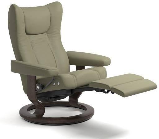 Stressless® by Ekornes® Wing Medium Leg Comfort Recliner-1161715