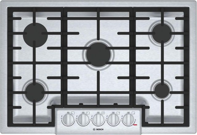 """Bosch 800 Series 30"""" Gas Cooktop-Stainless Steel-NGM8056UC"""