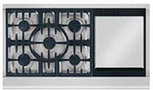 """DCS Professional 48"""" Gas Cooktop-Stainless Steel-CPV-485GD-N"""