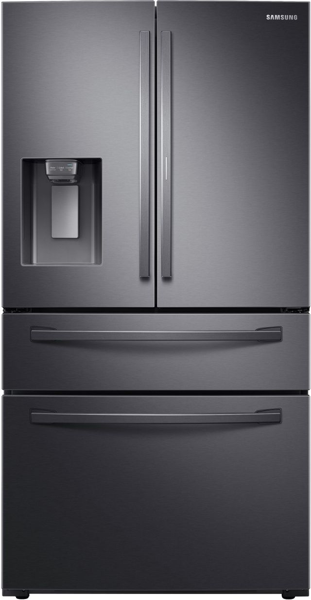 Samsung 27.8 Cu. Ft. Fingerprint Resistant Black Stainless Steel French Door Refrigerator-RF28R7351SG