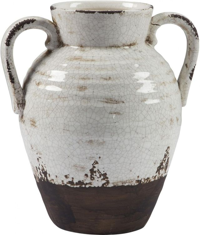 Signature Design by Ashley® Dion Distressed White Vase-A2000330