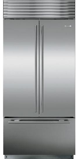 Sub-Zero 21 Cu. Ft. Built-In French Door Refrigerator-Stainless Steel-BI36UFDS