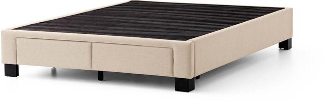 Malouf® Sleep Duncan Oat California King Platform Bed Base-STDUNCUPLCKOA