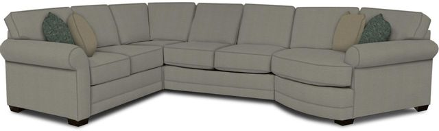 England Furniture Co. Brantley 4 Piece Culpepper Cement/Alvaro Mineral/Prima Turquoise Sectional-5630-28-22-43-95+8612+8660+8601