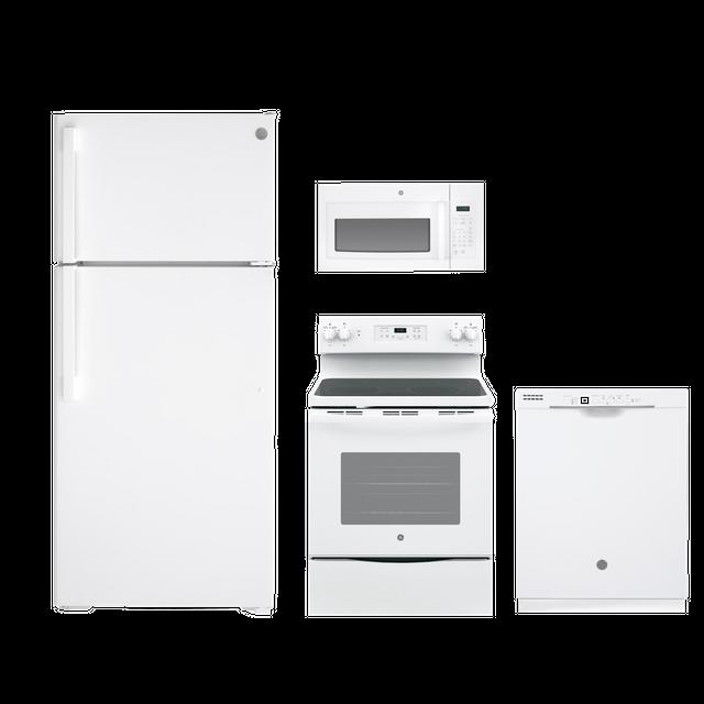 GE® 4 Piece Kitchen Package-White-GEKITJB645DKWW